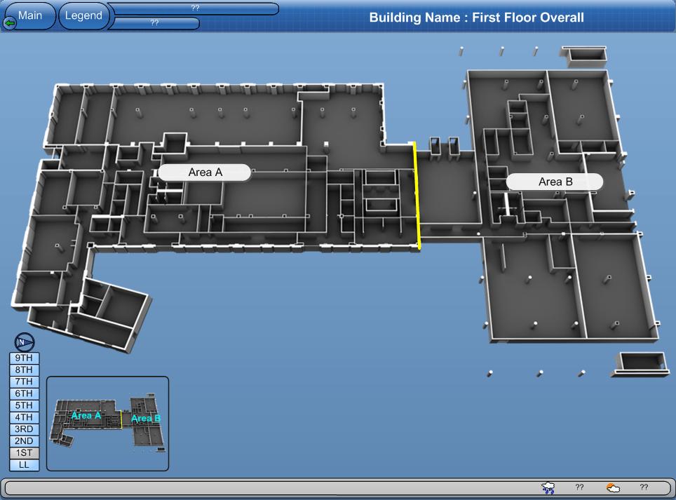 BAS Graphics, QA Graphics, Floor Plan, Navigation Graphics, System Graphics