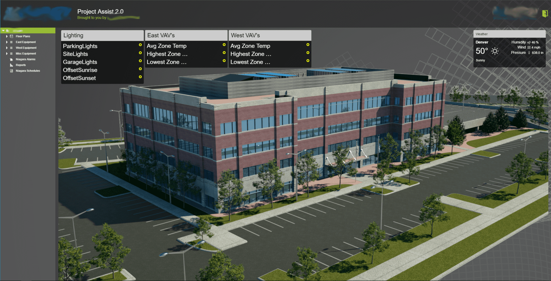 custom building on building controls software