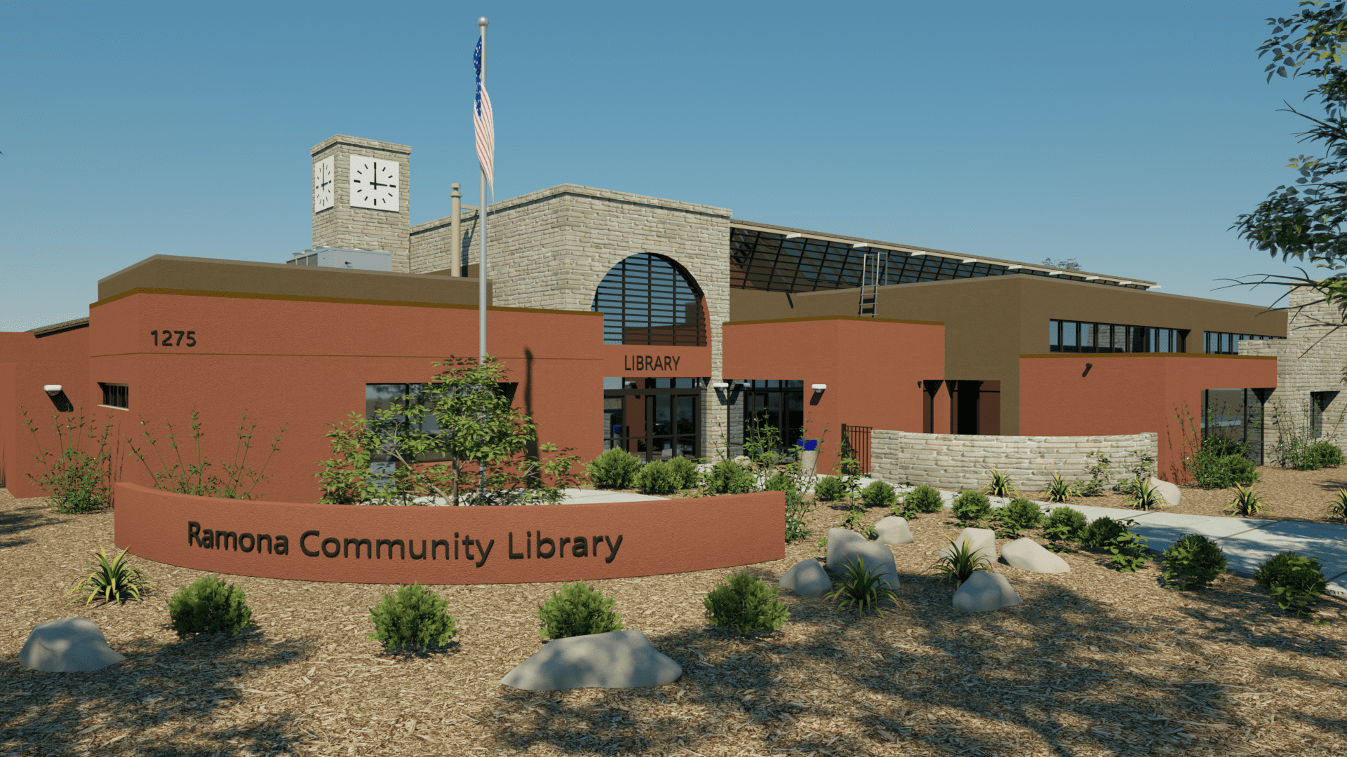 Exterior Library Render