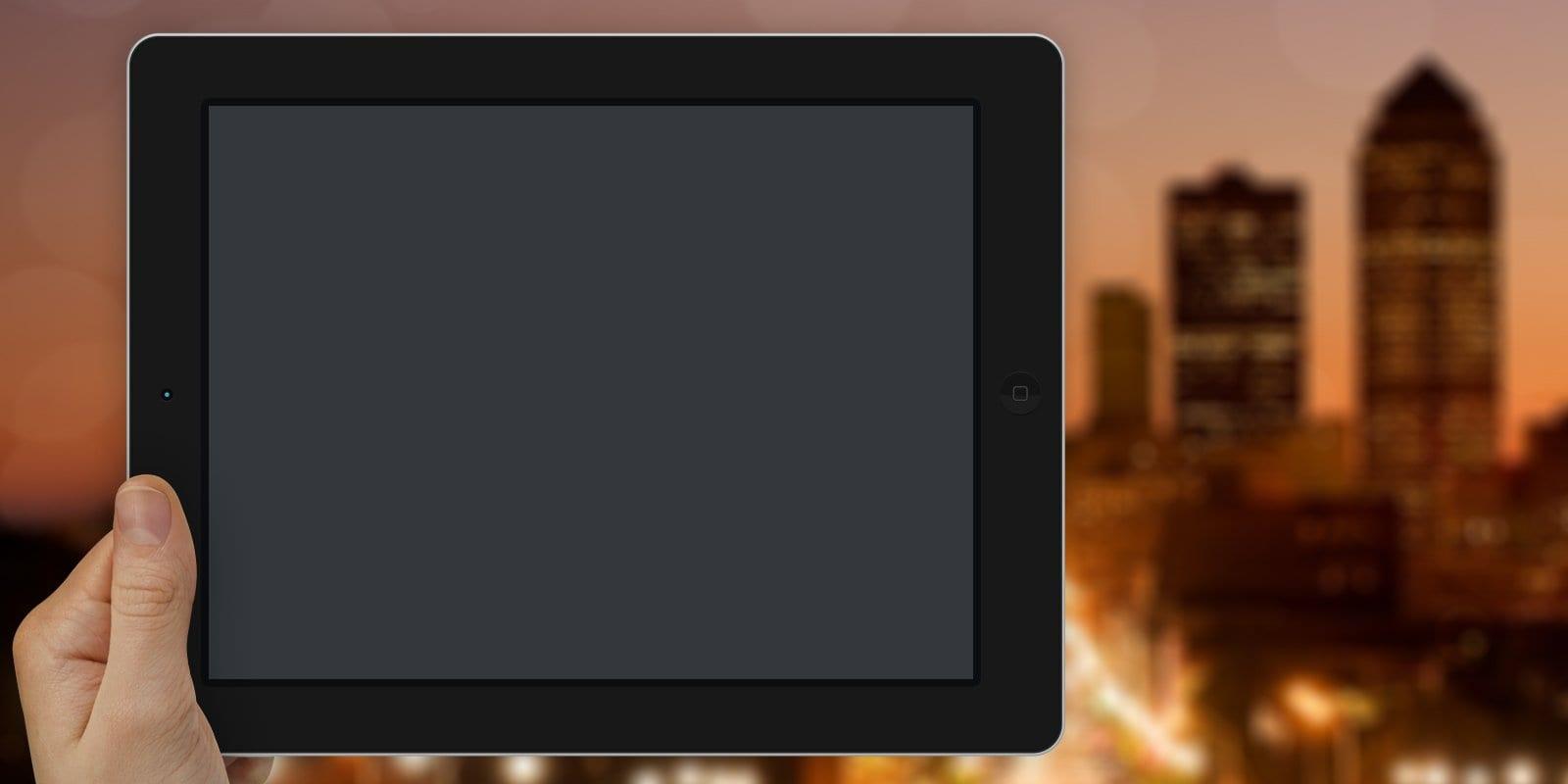 iPad Des Moines skyline