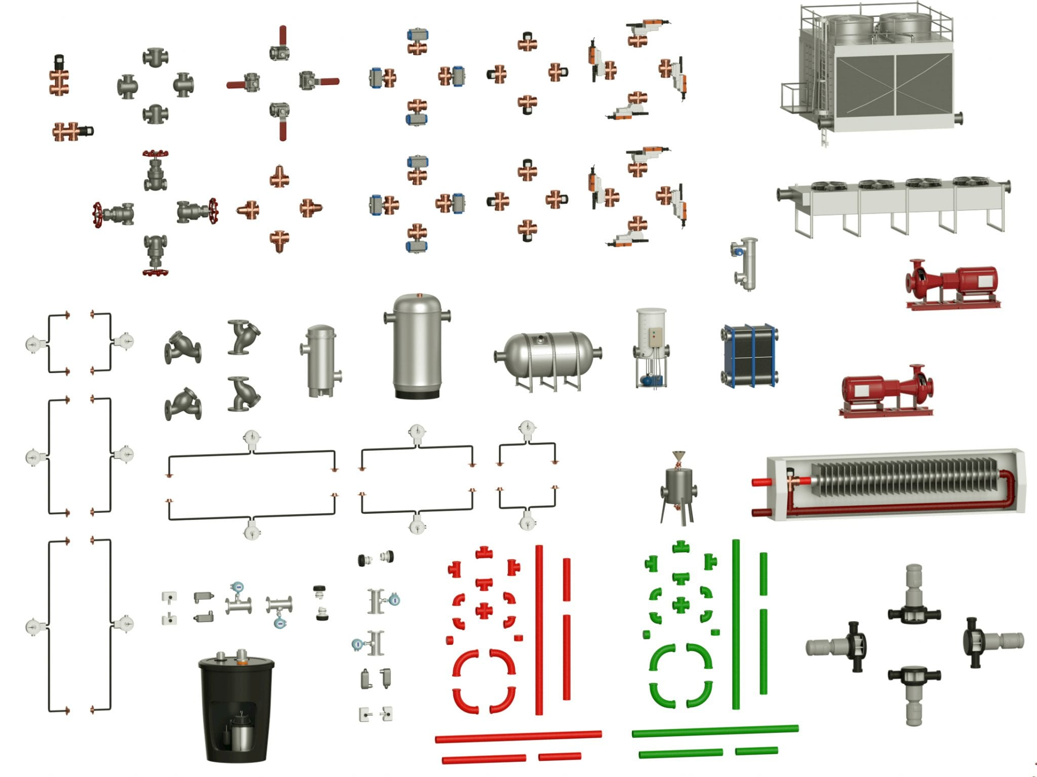 SLV5 Water System Example Pieces