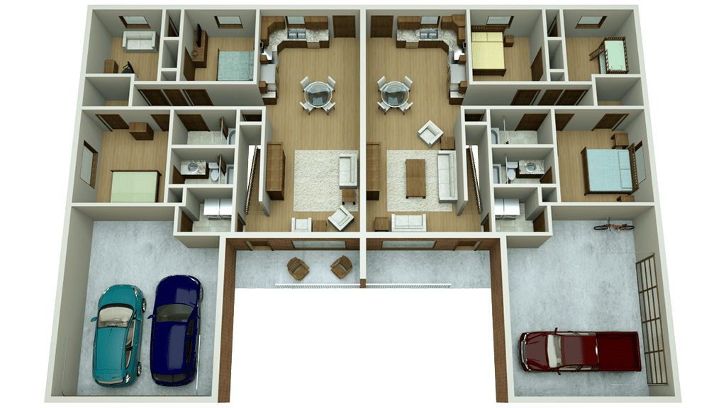 multi-family floor plan