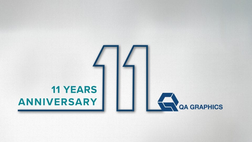 QA Graphics Celebrates 11 Years