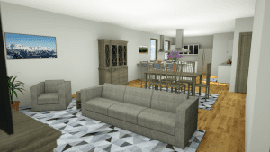 3D rendering of furnished apartment