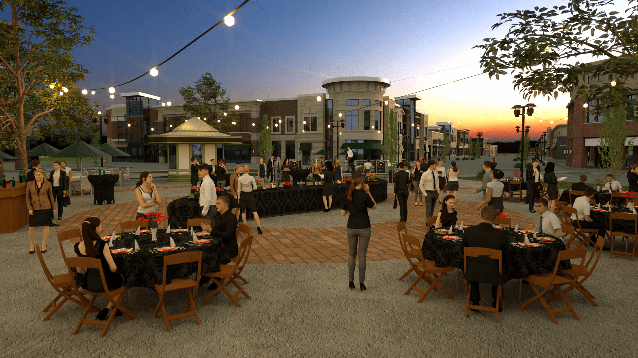 Event Space 3D render