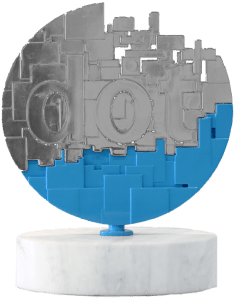 dotCOMM Award trophy, website design, web development