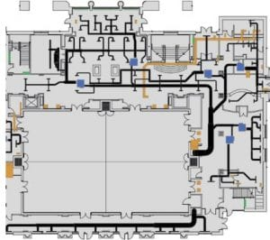 2D Custom Floorplan with ductwork and zoning by QA Graphics
