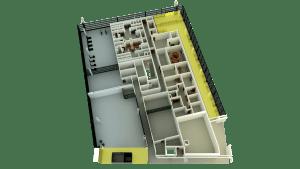 3D Floor Plan Lighting Example