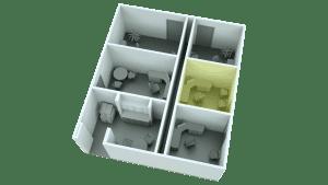 3D Floor Plan Office Lighting Example