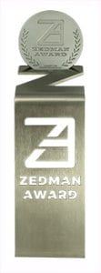 Zedman Awards for Video trophy
