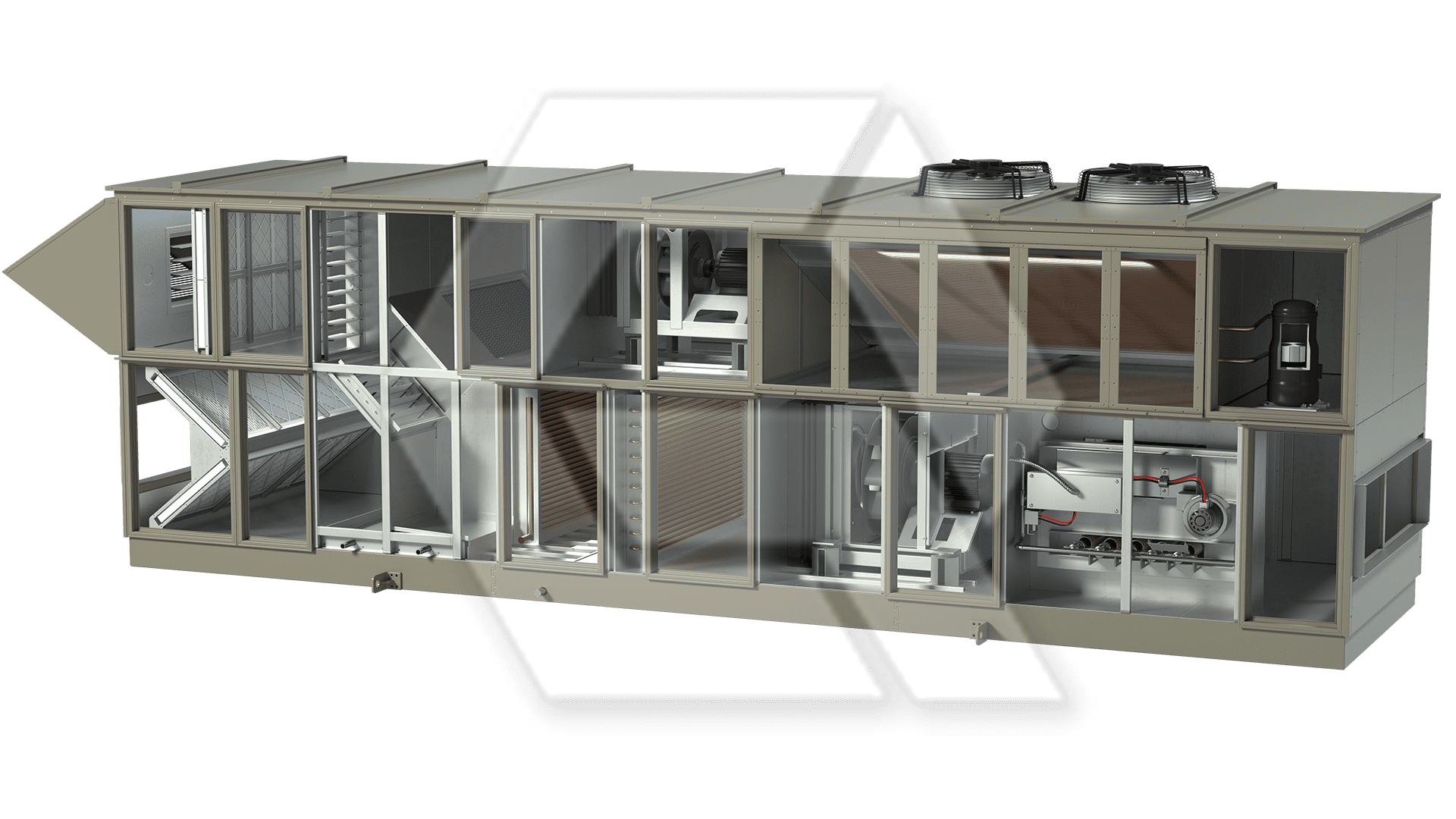 Innovent AHU 7879467-00020 - Pool Unit Open View