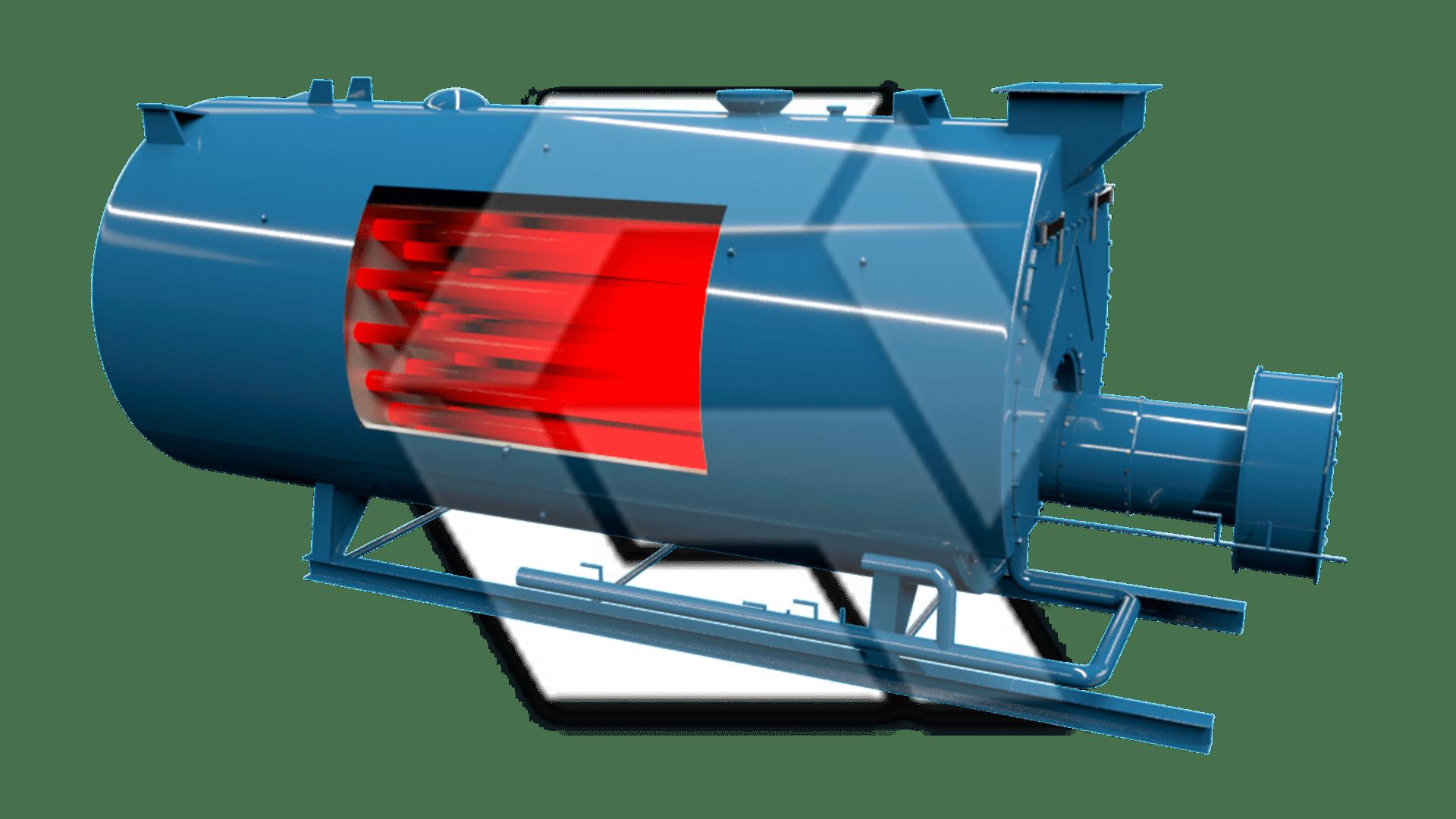 Superior Boiler open