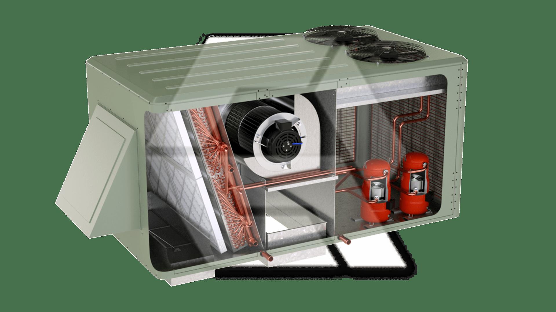 Trane RTU 2Compressor Open