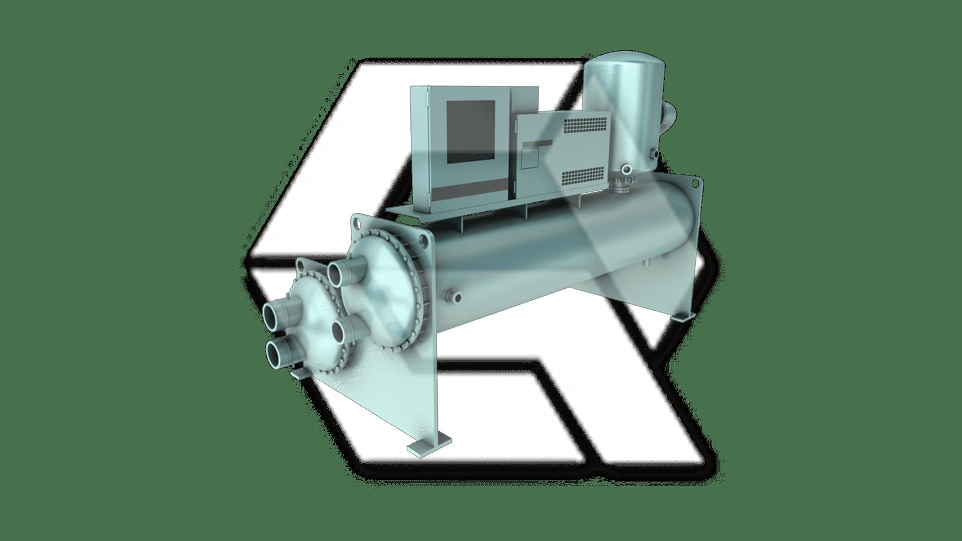 Chillers York YR Twin Screw Compressor Closed