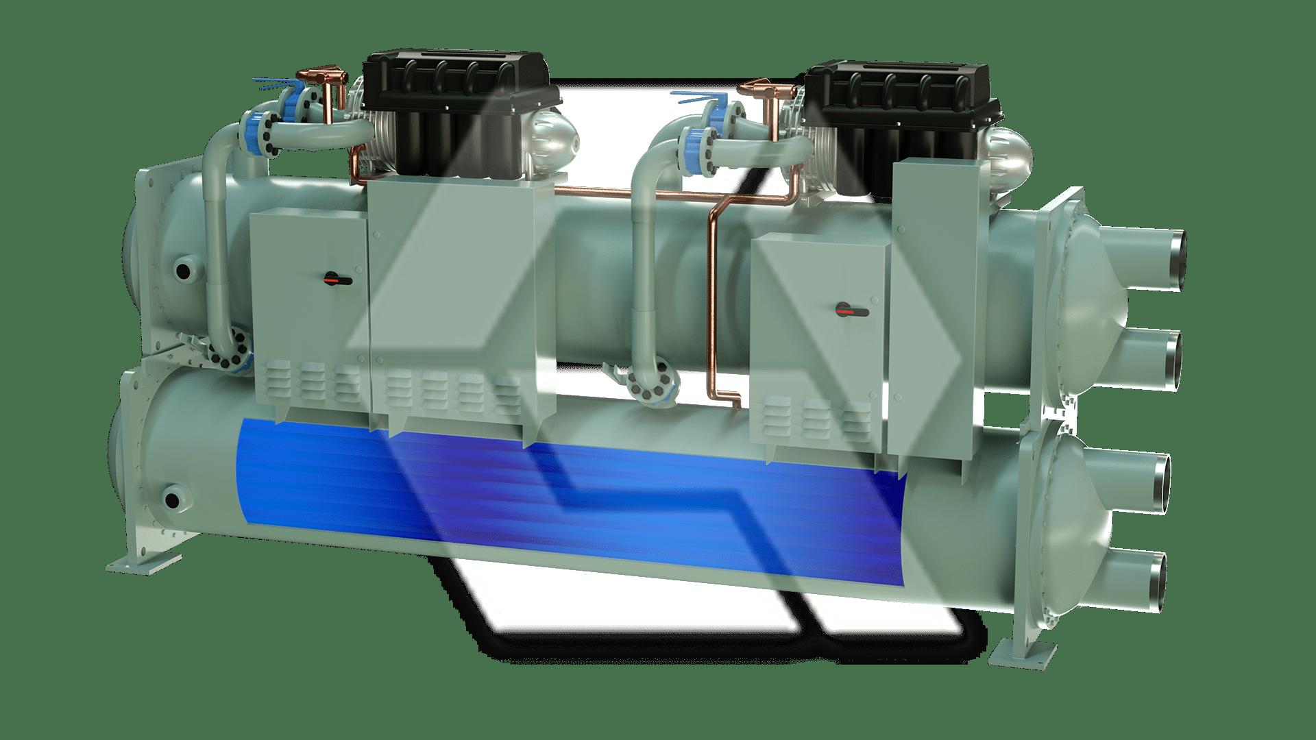 Dual Compressor Chiller 2 Open